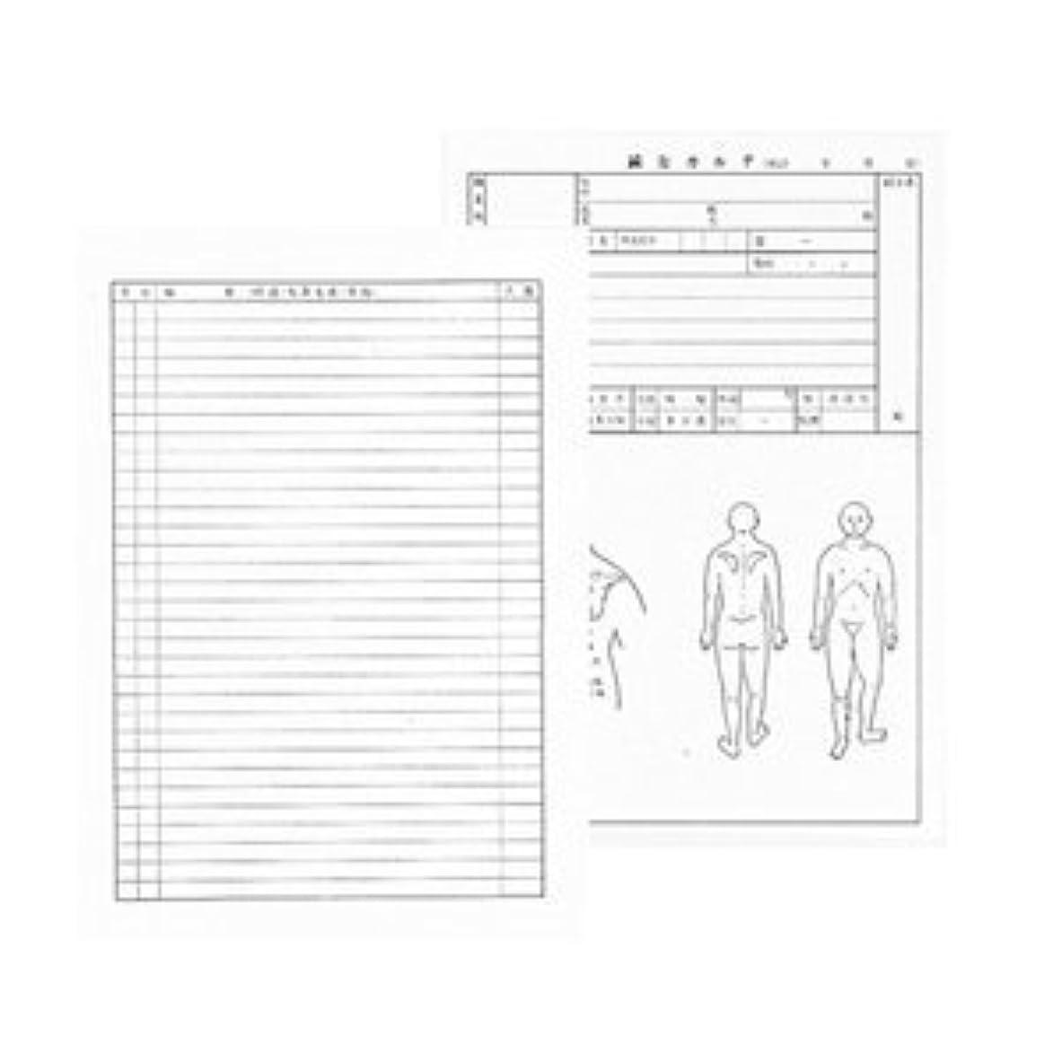 誠意カードラフト【メディカルブック】針灸カルテ(鍼灸カルテ)(A4)100枚1組(SS-101)
