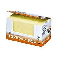 (まとめ) 3M ポストイット エコノパック 見出し 再生紙 50×15mm イエロー 7001-Y20 1パック(30冊) 【×4セット】 [簡易パッケージ品]