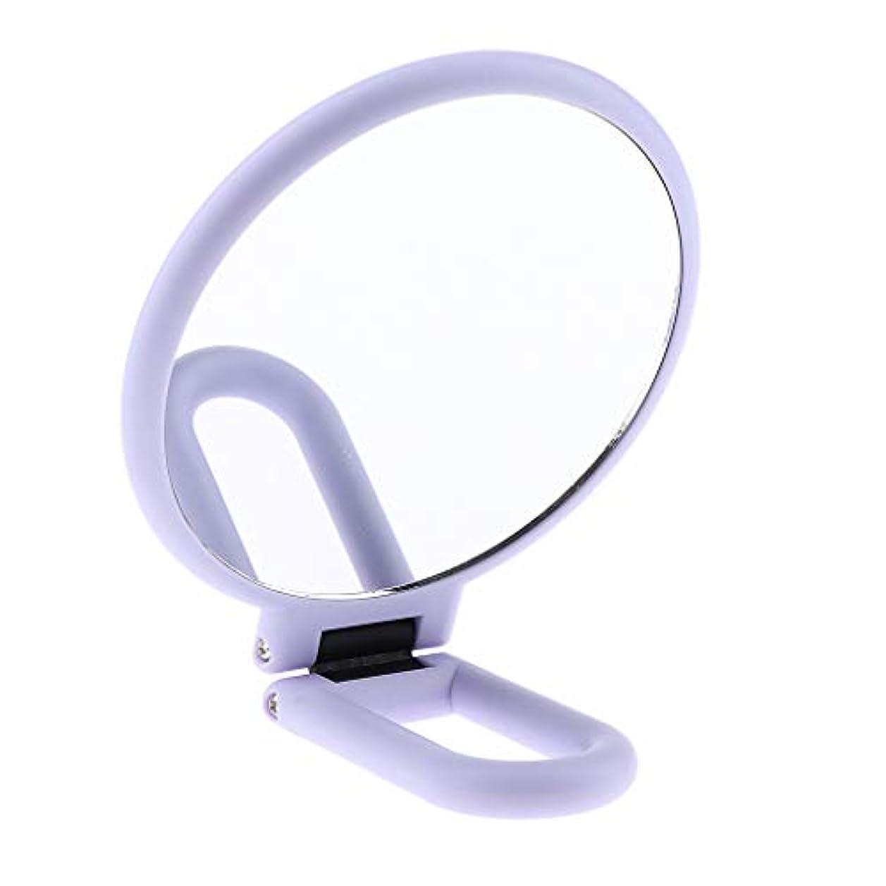 マージン戸口楽観F Fityle 両面化粧鏡 メイクアップミラー 折りたたみ 手持ち 旅行小物 2タイプ選べ - 10倍