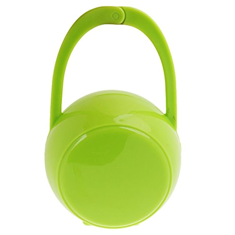 Lovoski ベビー 携帯 おしゃぶり 乳首ケース おしゃぶりホルダー ボックス 保護ボックス きれい 全3色 - グリーン