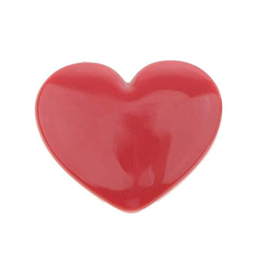 注釈シンプルなたるみPerfk コスメ 詰替え 収納ケース 口紅 アイシャドウ ハート型 手作り プレゼント おしゃれ 全4色 - ローズ