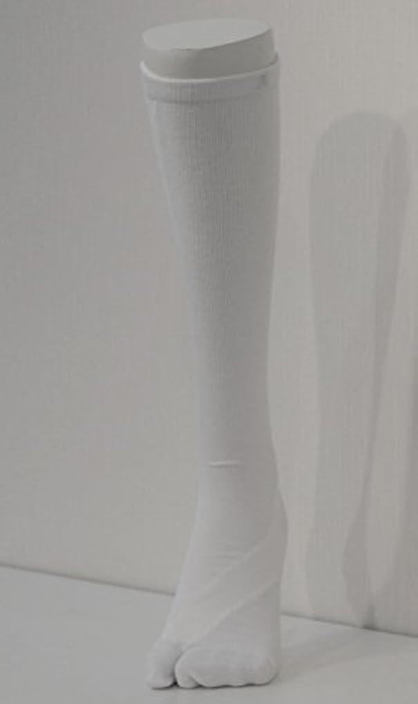 参照柱間に合わせさとう式 フレクサーソックス ハイソックス 白 (S) 足袋型
