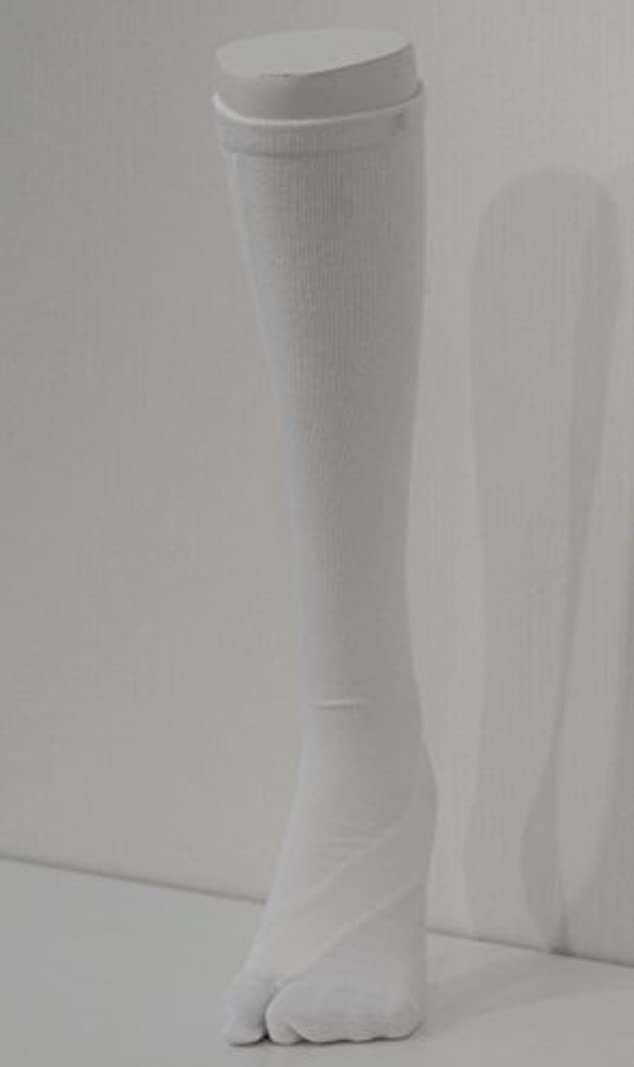 呪われたラウズ血統さとう式 フレクサーソックス ハイソックス 白 (S) 足袋型