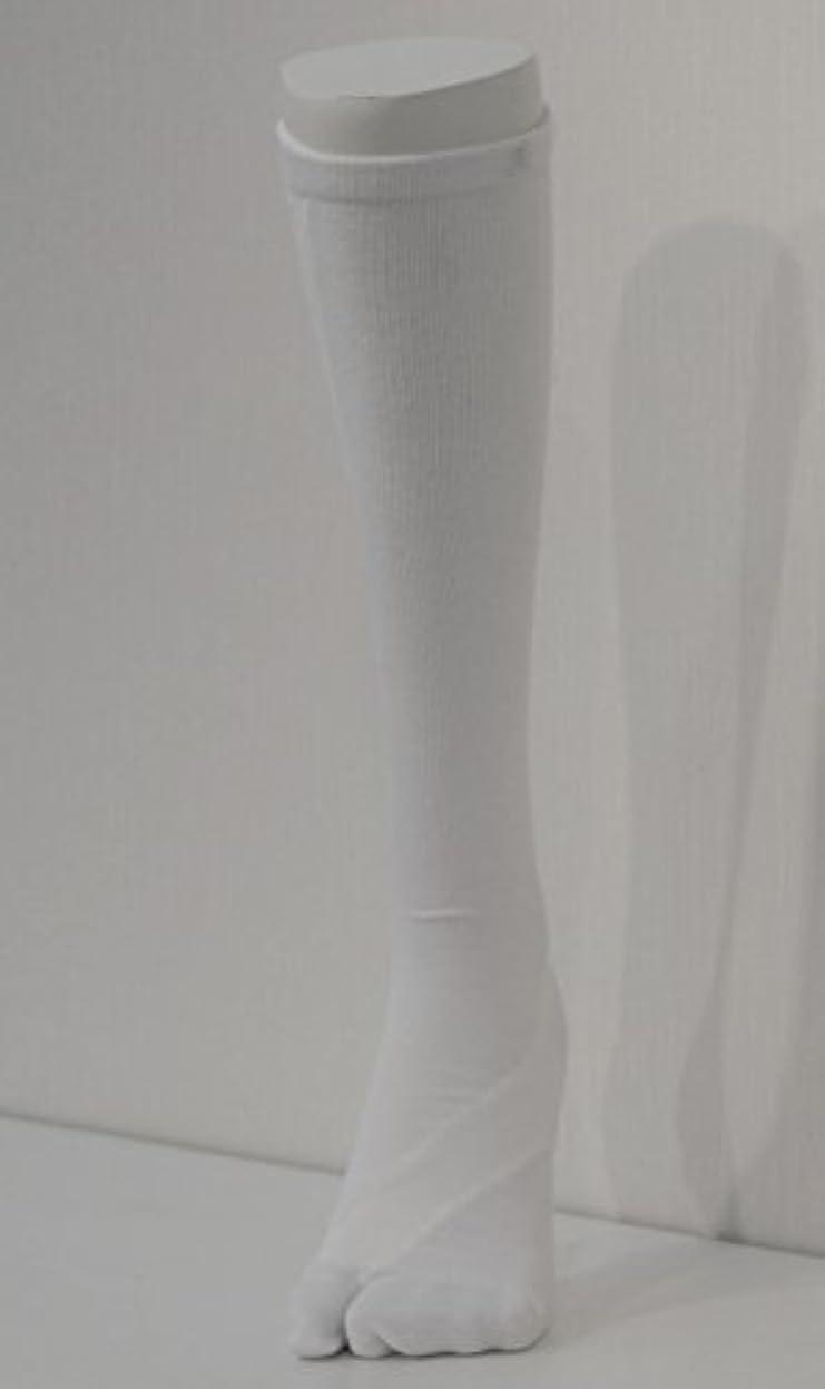 瀬戸際魅了する遅いさとう式 フレクサーソックス ハイソックス 白 (S) 足袋型