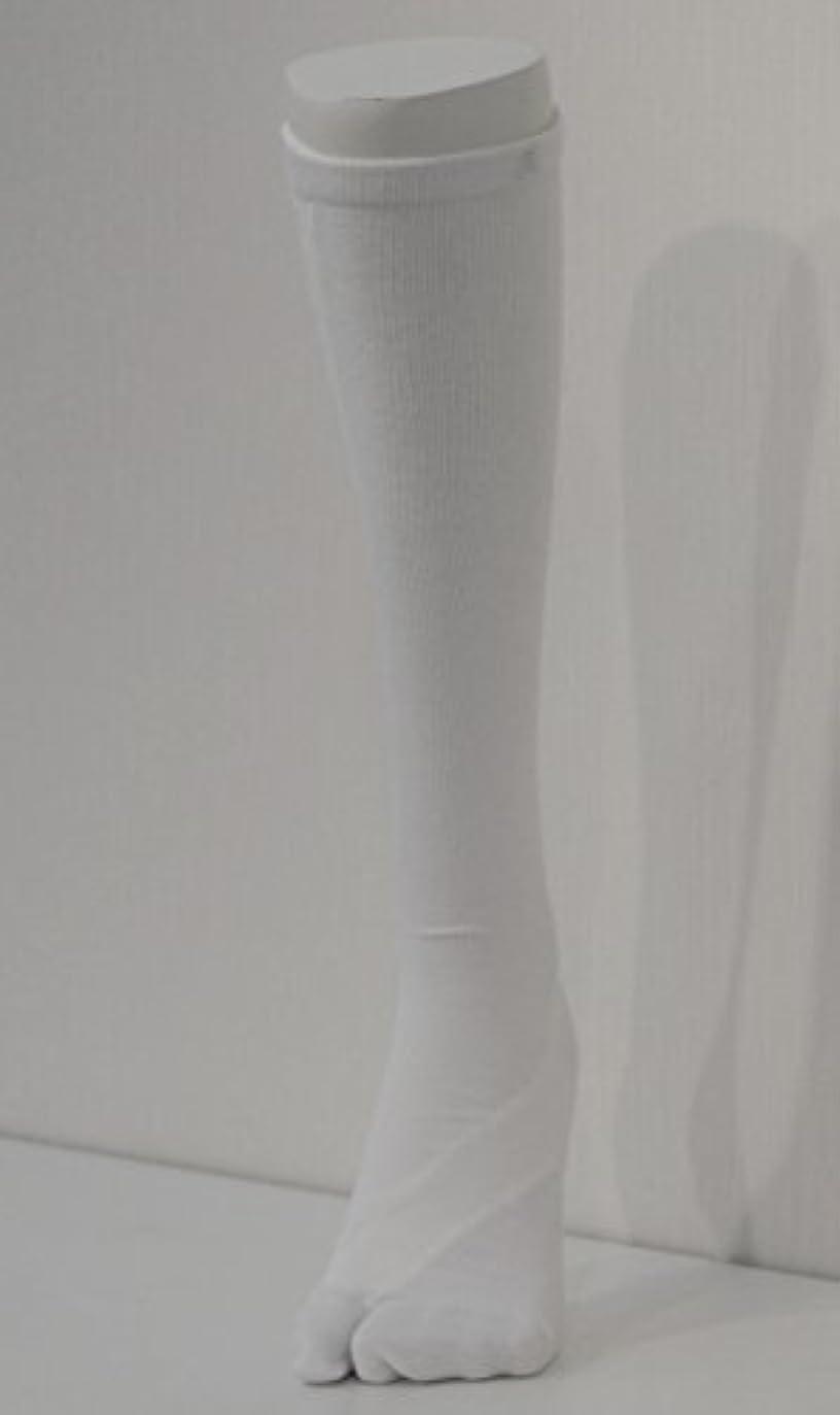 底相対的中断さとう式 フレクサーソックス ハイソックス 白 (S) 足袋型