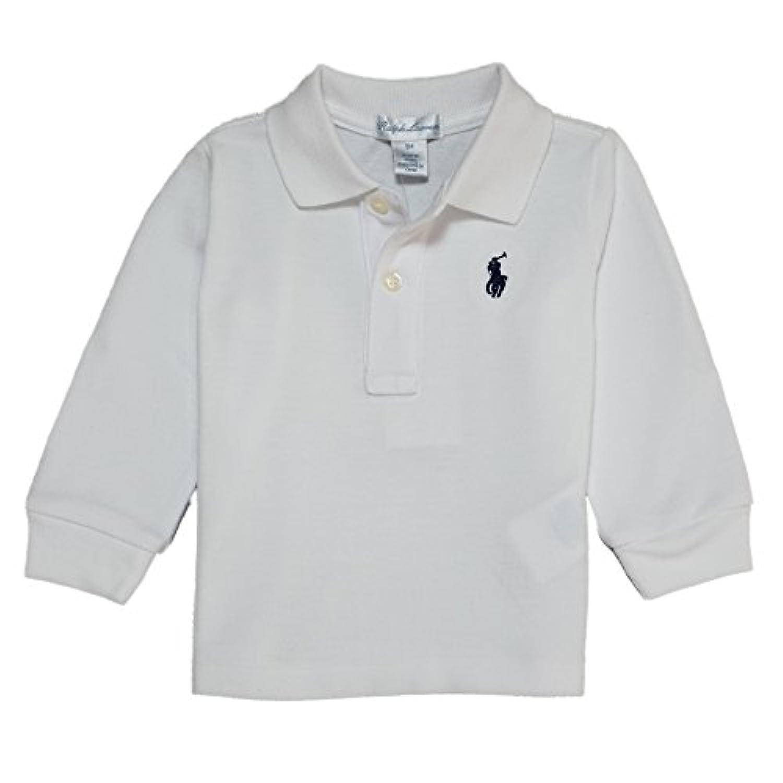 (ポロ ラルフローレン) POLO RALPH LAUREN ベビー 男の子 長袖 ポロシャツ Cotton Mesh Long-Sleeve Polo ホワイト White (12M) [並行輸入品]