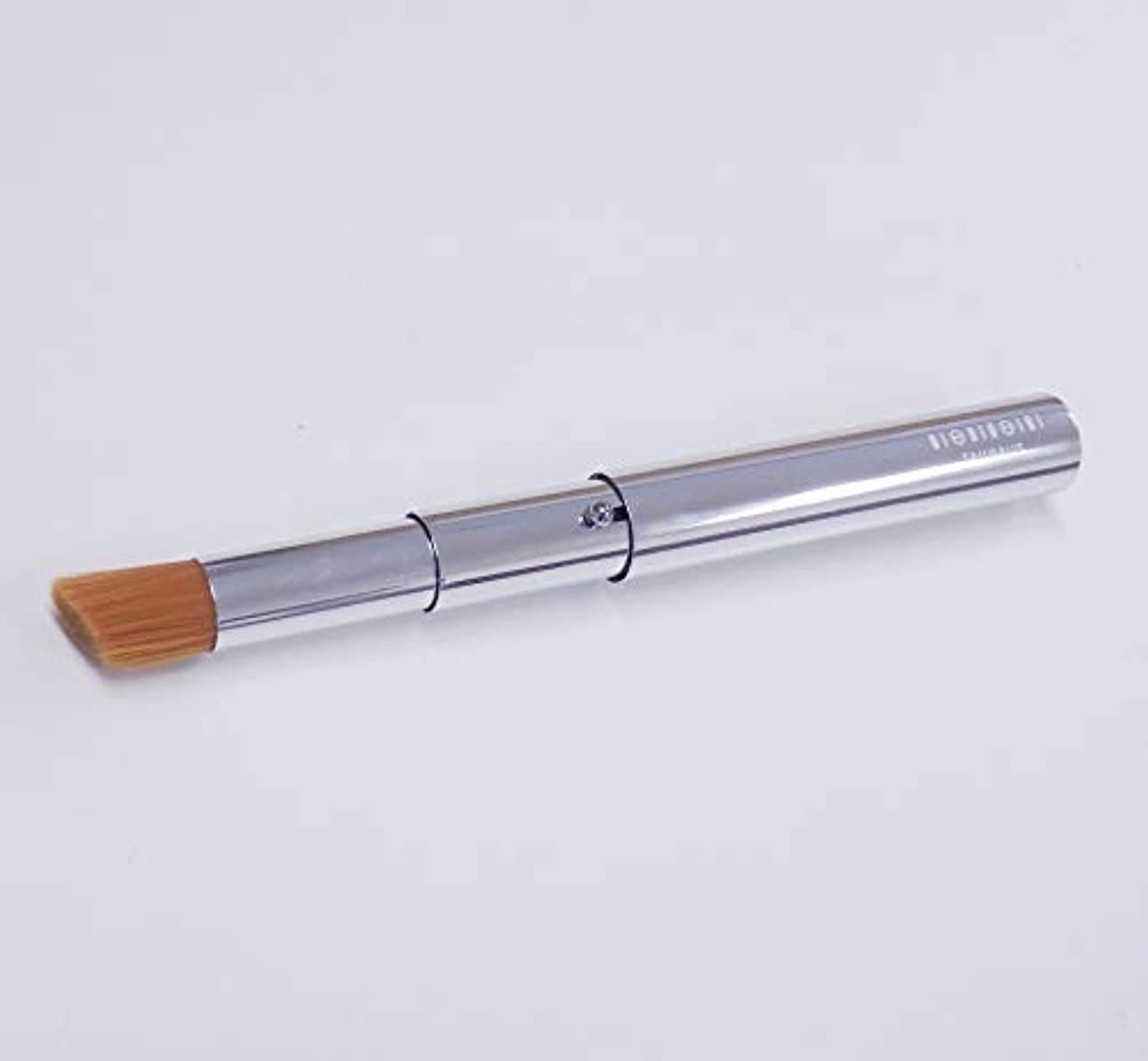 贅沢フォーマット十携帯用コンシーラーブラシ(シルバー/ナイロン)