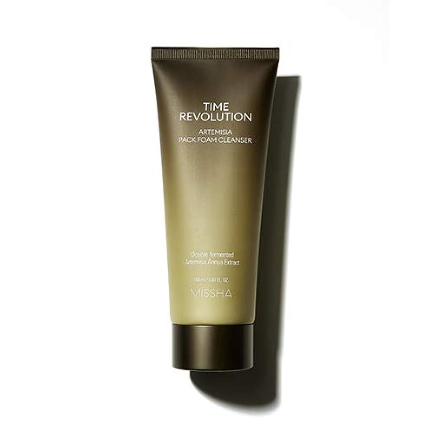 MISSHA タイムレボリューションアルテミシアパックフォームクレンザー/Time Revolution Artemisia Pack Foam Cleanser 150ml [並行輸入品]