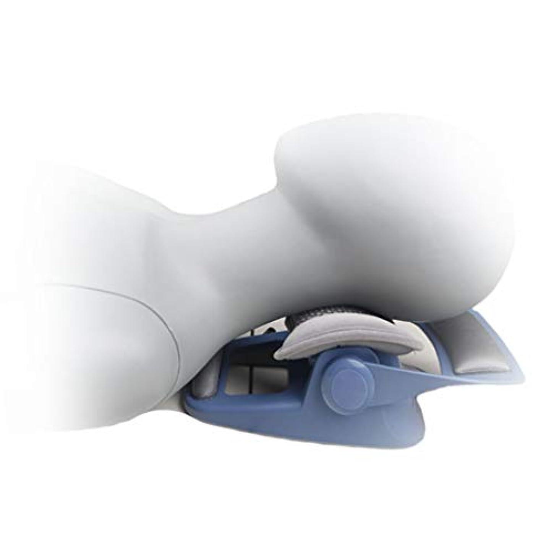 消費者報復する必需品首のサポート、頸部頸部牽引装置カラーブレース脊椎のアライメント慢性の首と肩の痛みのためのインスタントリリーフ,ブルー