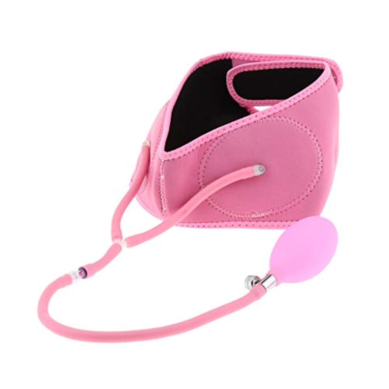 穴かんたん安全なリフトアップベルト フェイスベルト 小顔 美顔 矯正 顔痩せ 膨脹可能 伸縮性 通気性 全3色 - ピンク