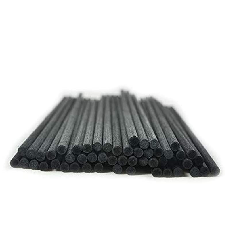 ミュウミュウ下品勤勉50本入アロマファイバーディフューザー交換用スティック(25cm*4mm,黒)