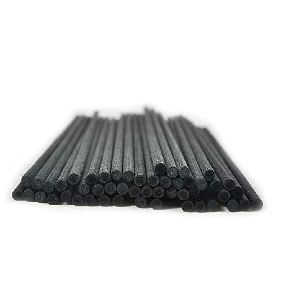芸術ケイ素突き刺す50本入アロマファイバーディフューザー交換用スティック(25cm*4mm,黒)