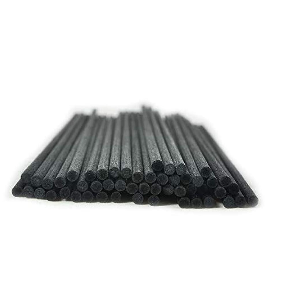 ホース疲労趣味50本入アロマファイバーディフューザー交換用スティック(25cm*4mm,黒)