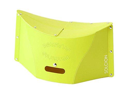 SOLCION 折りたたみ椅子 PATATTO (パタット) 高さ20cm グリーン PT005