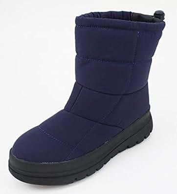[Yukirizm] 耐滑ミドルカットブーツ (S(22.5cm~23cm), ネイビー)