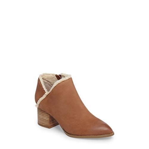 セイシェルズ シューズ ブーツ&レインブーツ Seychelles Preview Faux Fur Lined Bootie Cognac Lea [並行輸入品]