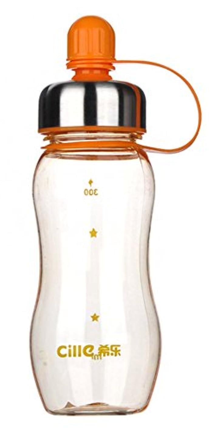名声前奏曲動的300ML / 10オズ漏れ防止屋外水ボトルポータブルスポーツ水ボトル蓋オレンジ#2