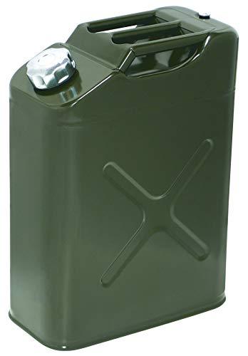 エマーソン ガソリン携行缶 20L EM-143 給油ノズル缶内収納 [消防法適合品 KHK] 鋼板厚0.8mm EMERSON EM143