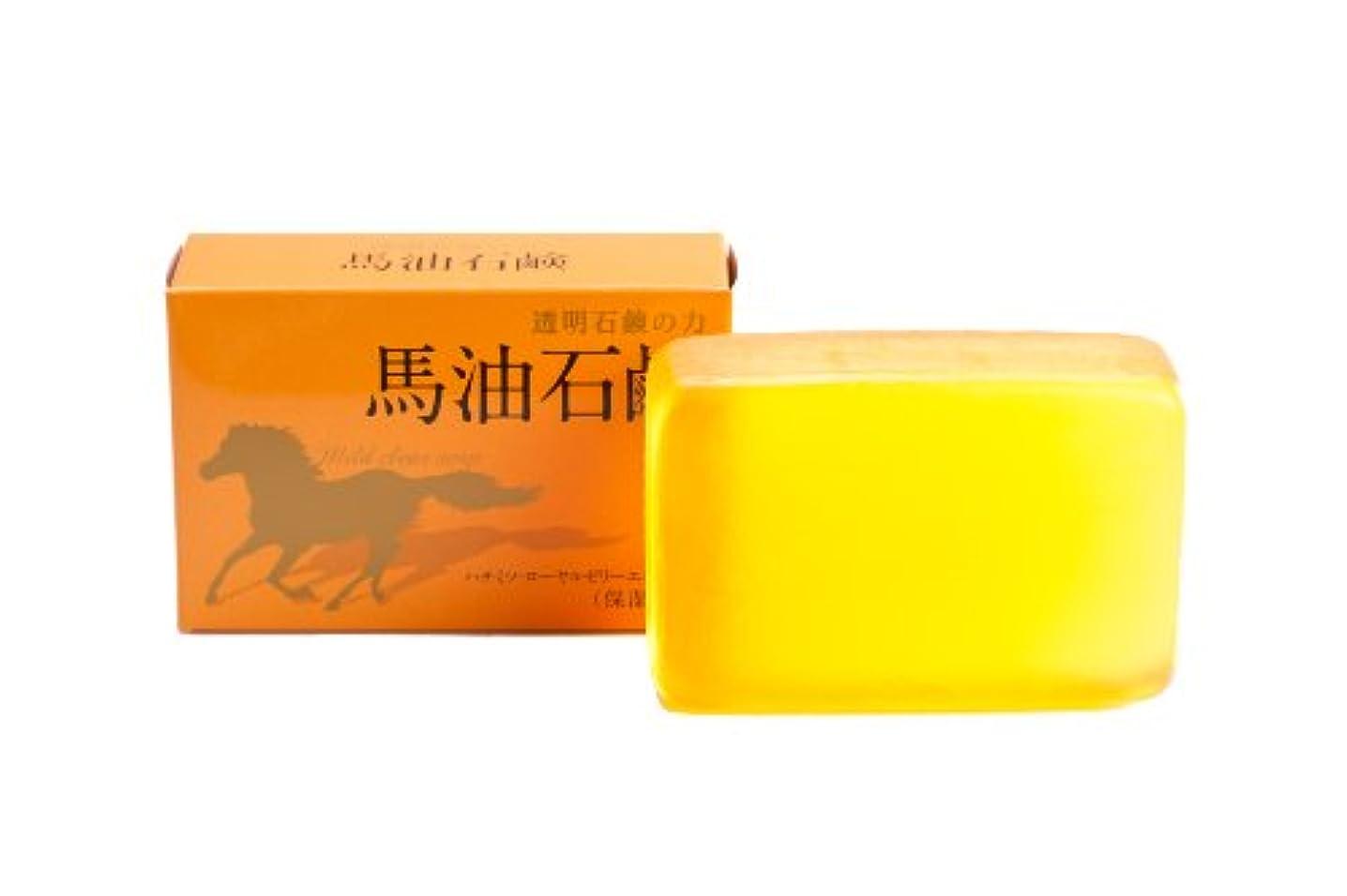 メモ血色の良い満足できるカインド 馬油石鹸 120g