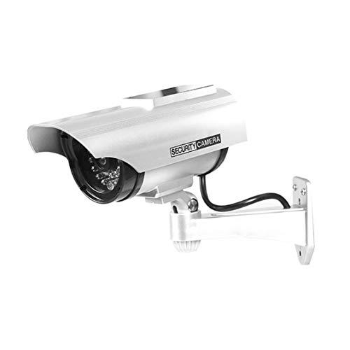 YZ-3302ソーラーダミーCCTVセキュリティ監視防水偽カメラ点滅赤色LEDライトビデオ盗難防止カメラ(Rustle666)