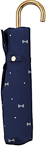 w.p.c 折りたたみ傘 ジェムリボン 手開き ネイビー 50cm 111-016