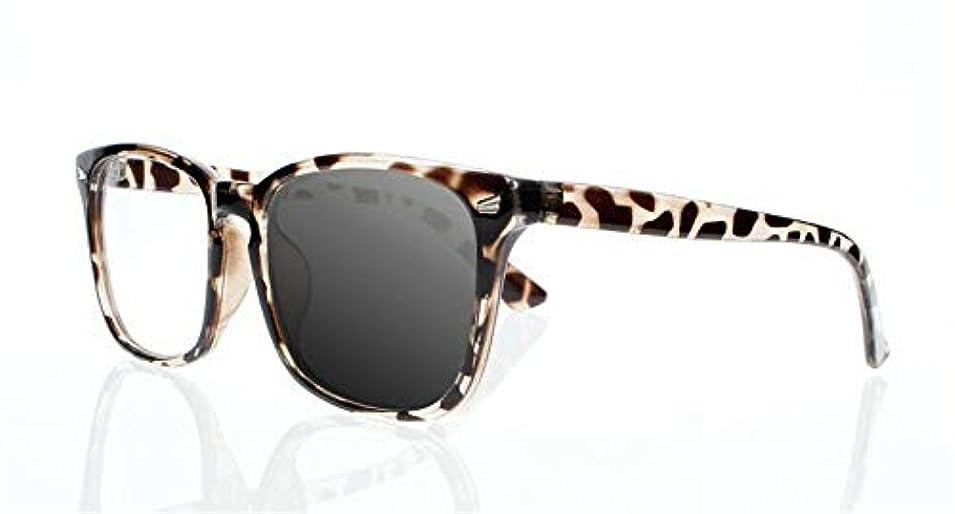 FidgetGear ビンテージトランジションフォトクロミックスクエアサン老眼鏡オタクオタクサングラス カメ