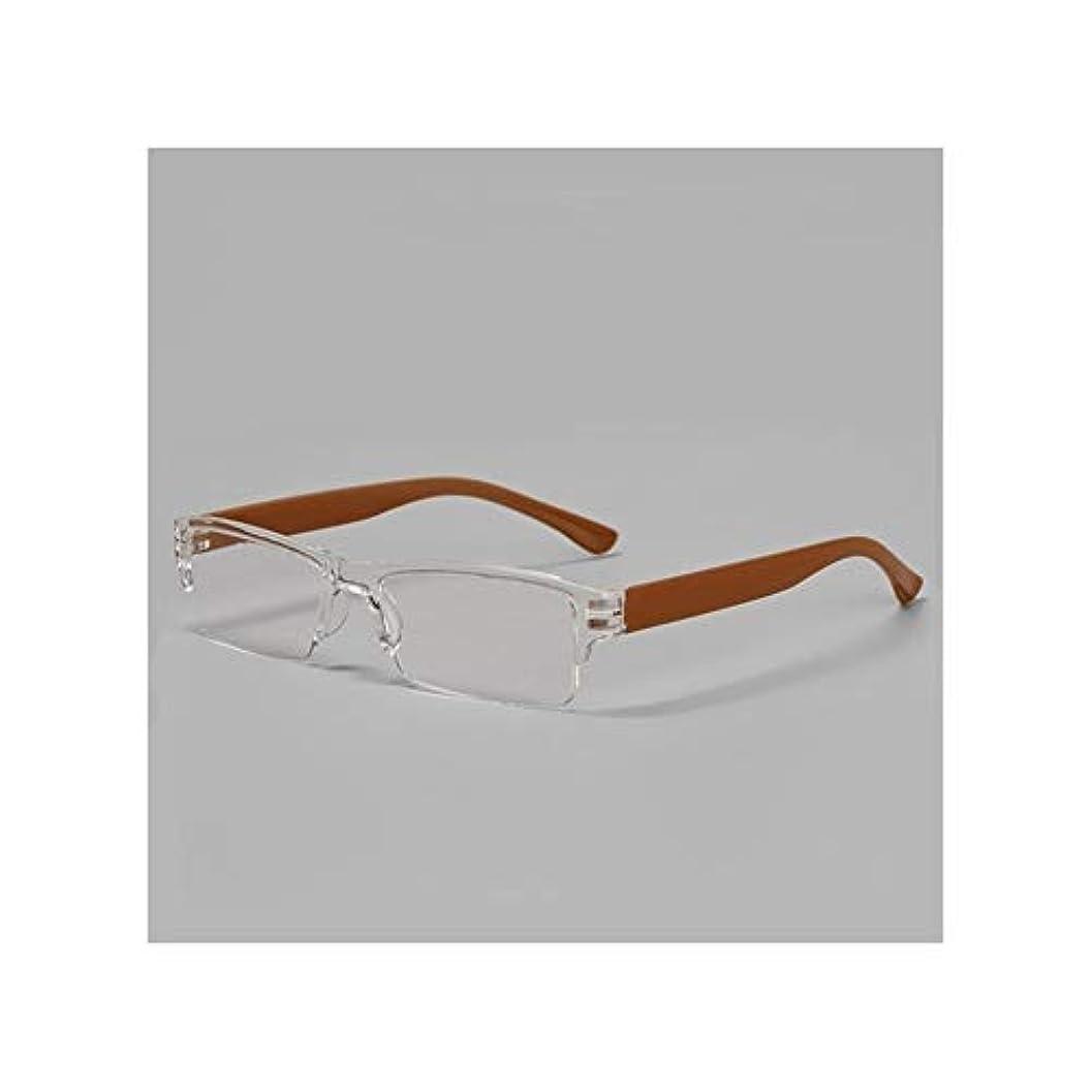 落花生調べるシリンダーHTTShop ファッション老眼鏡樹脂キャンディーの色 スタイリッシュなメガネ (Color : +200, Frame Color : Brown)
