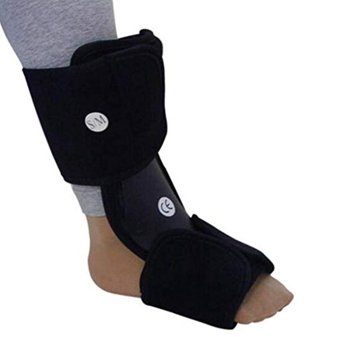 足首レッグストラップサポート足装具補正足底スプリント固定プロテクター足首の痛みを軽減し、捻rainを復元 (Size : S)
