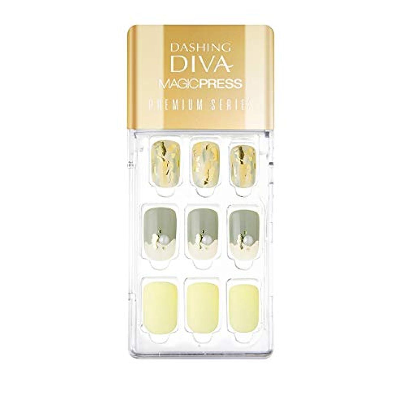 パターン束絶縁するダッシングディバ マジックプレス DASHING DIVA MagicPress MDR_327PR-DURY+ オリジナルジェル ネイルチップ Fresh Mint