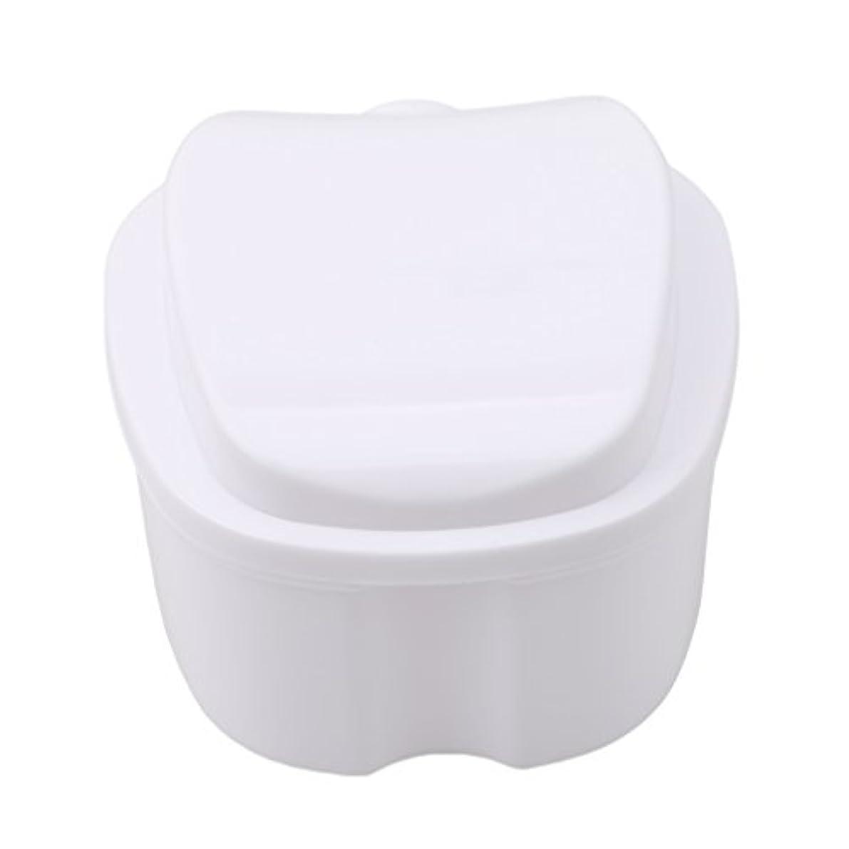 バルーン説明明るくするHonel 収納ボックス 義歯収納用 リテーナーケース りんご柄 ホワイト