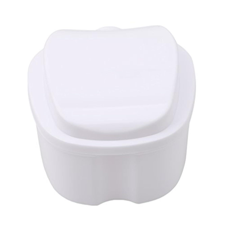 放映召喚する高速道路Honel 収納ボックス 義歯収納用 リテーナーケース りんご柄 ホワイト