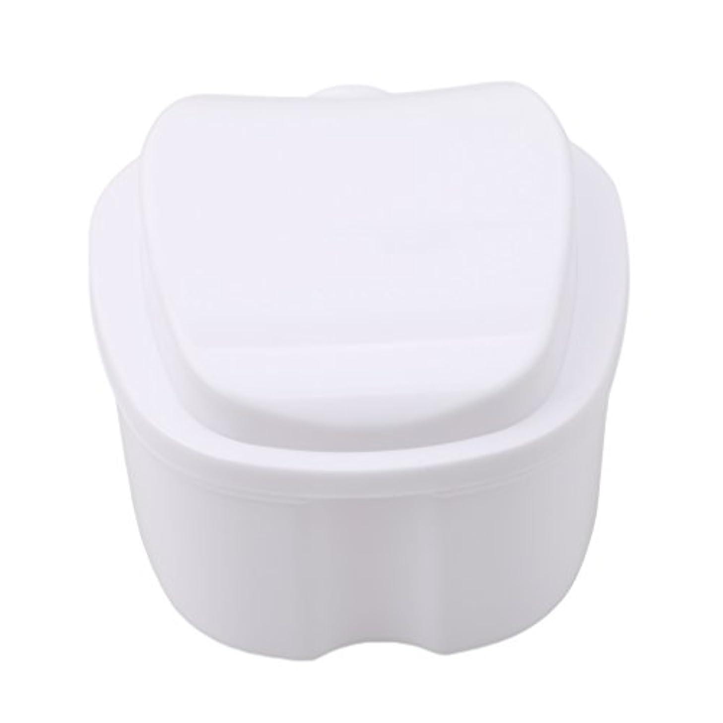 内部橋脚本部Honel 収納ボックス 義歯収納用 リテーナーケース りんご柄 ホワイト