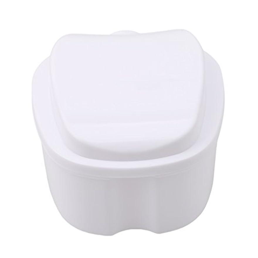 前文申請者うまれたHonel 収納ボックス 義歯収納用 リテーナーケース りんご柄 ホワイト