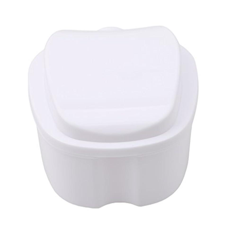 信念上下するカニHonel 収納ボックス 義歯収納用 リテーナーケース りんご柄 ホワイト