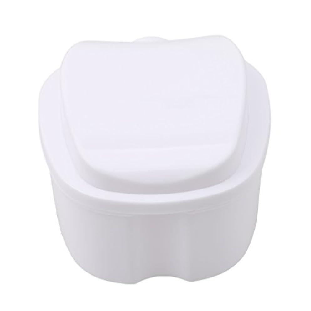 同一性中性ゴルフHonel 収納ボックス 義歯収納用 リテーナーケース りんご柄 ホワイト