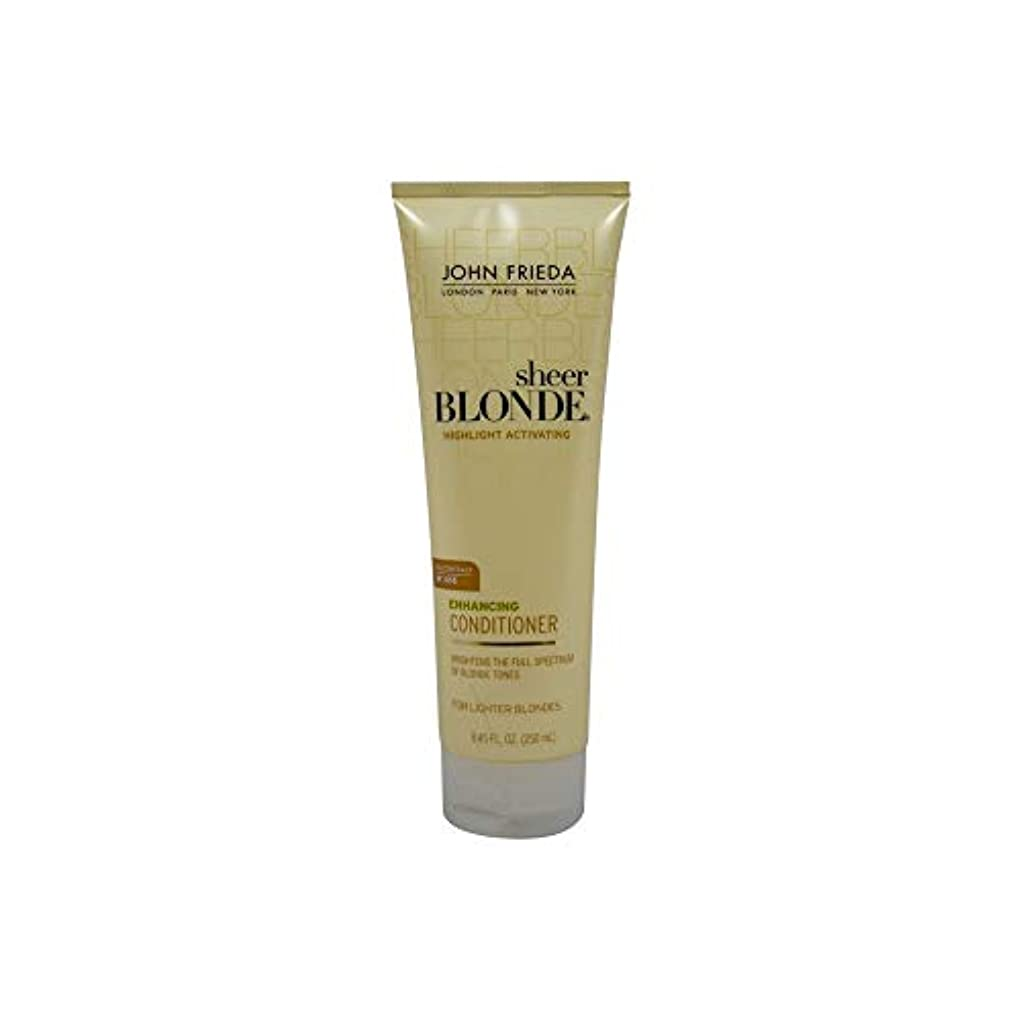 アンソロジー更新する洪水John Frieda Sheer Blonde Highlight Activating Enhancing Conditioner (For Lighter Blondes), 8.45 Oz by John Frieda