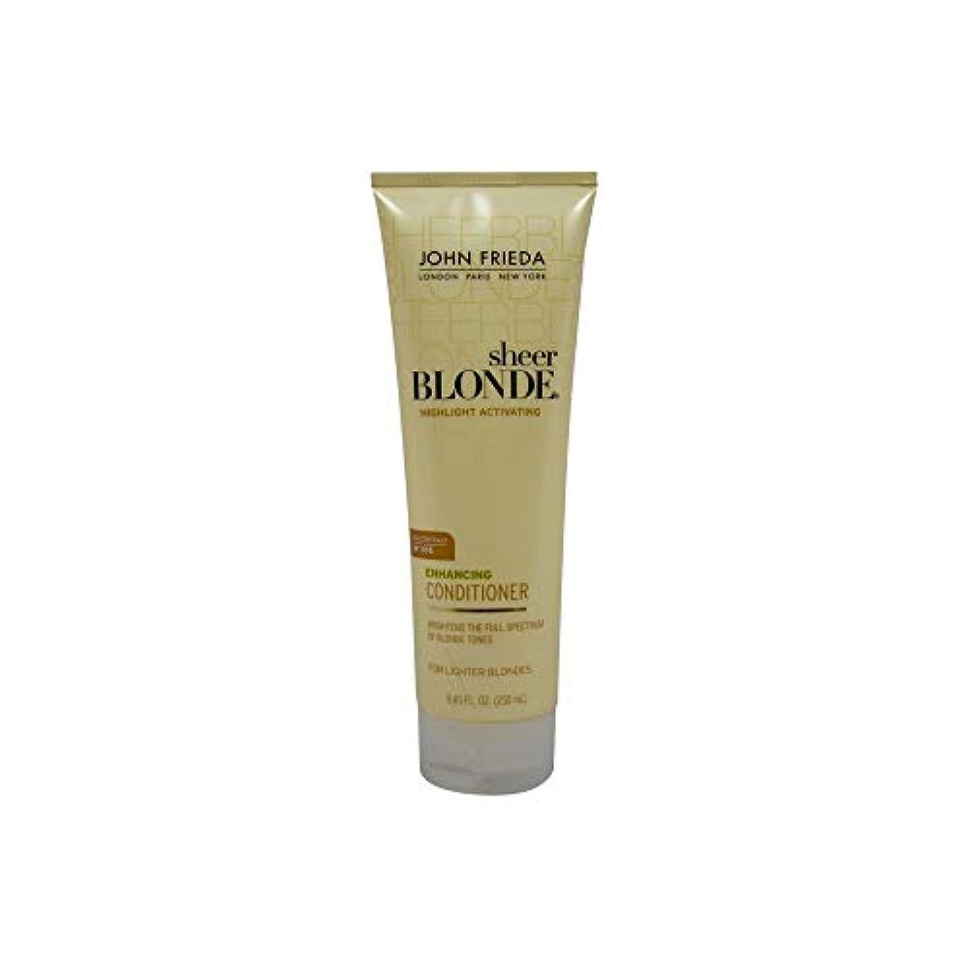 離れた瞑想する未満John Frieda Sheer Blonde Highlight Activating Enhancing Conditioner (For Lighter Blondes), 8.45 Oz by John Frieda