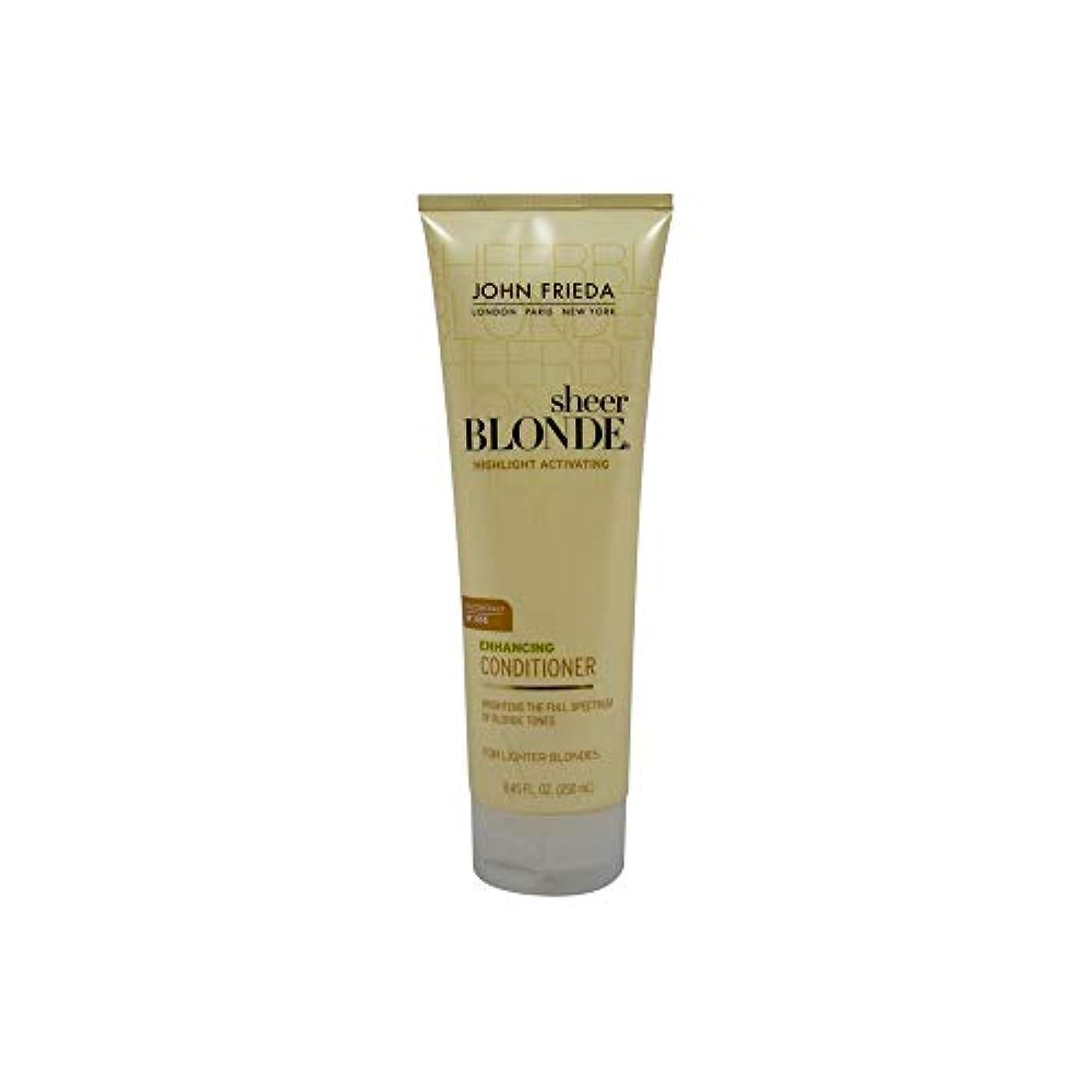 有効序文図John Frieda Sheer Blonde Highlight Activating Enhancing Conditioner (For Lighter Blondes), 8.45 Oz by John Frieda