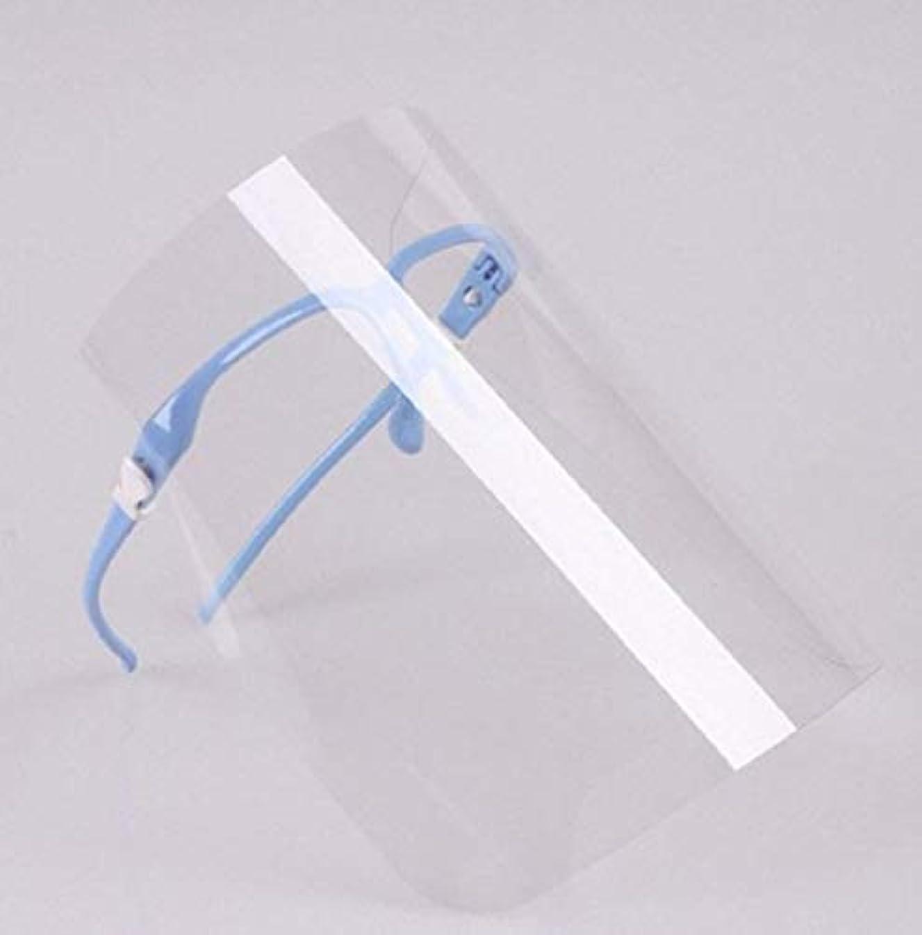 余分な信じられない湿度クリアフェイスガード QT-019 (ブルー)