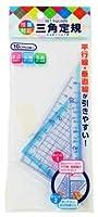 サンフレイムジャパン 三角定規 10cm 500-2247 (1セット) 収納ケース 名前シール付 直角三角形 二等辺三角形