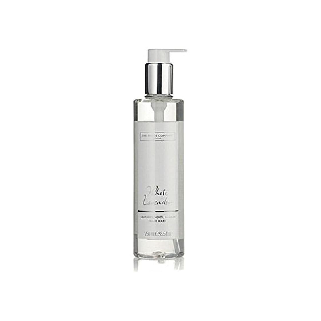 揺れるカナダノベルティ白同社白ラベンダーハンドウォッシュ x2 - The White Company White Lavender Hand Wash (Pack of 2) [並行輸入品]