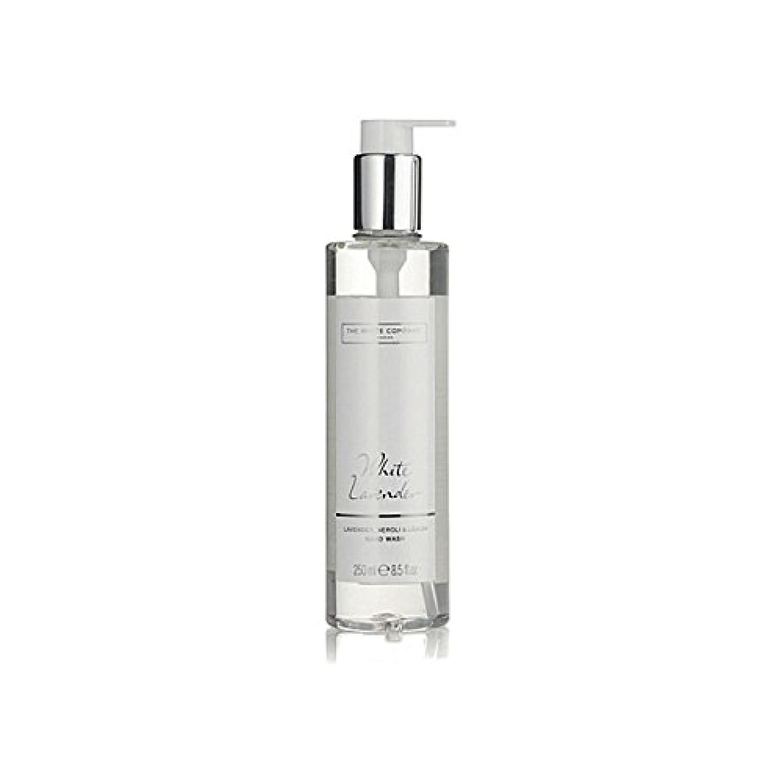 玉ねぎ運動使い込む白同社白ラベンダーハンドウォッシュ x4 - The White Company White Lavender Hand Wash (Pack of 4) [並行輸入品]