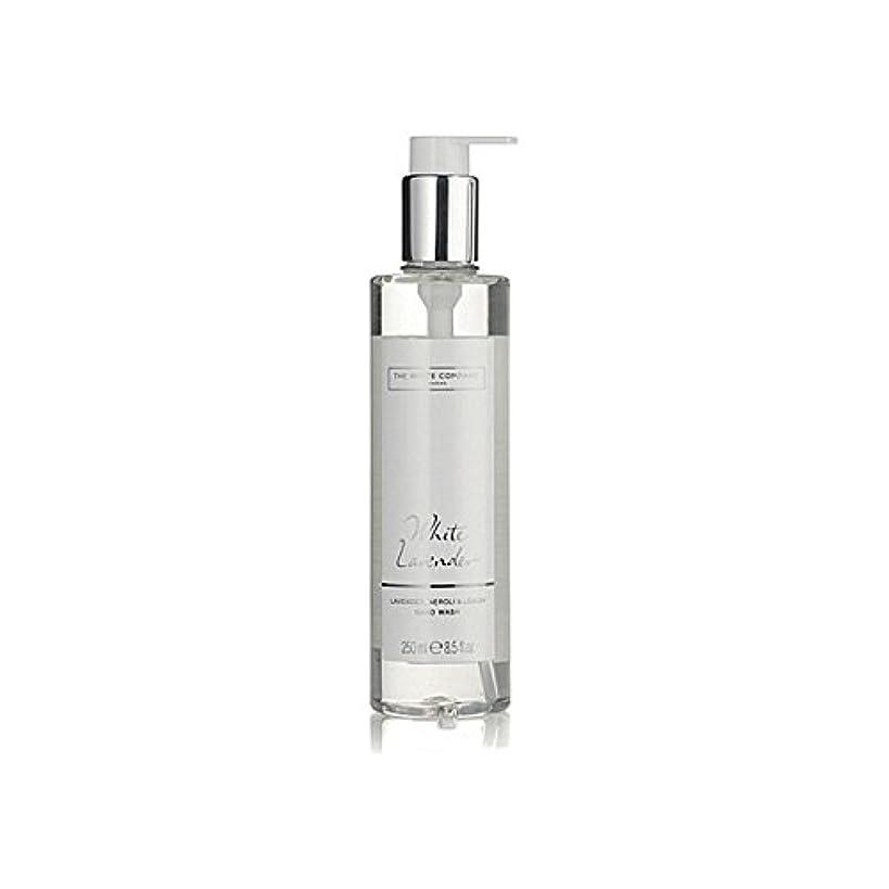 スラダム主権者不満白同社白ラベンダーハンドウォッシュ x4 - The White Company White Lavender Hand Wash (Pack of 4) [並行輸入品]