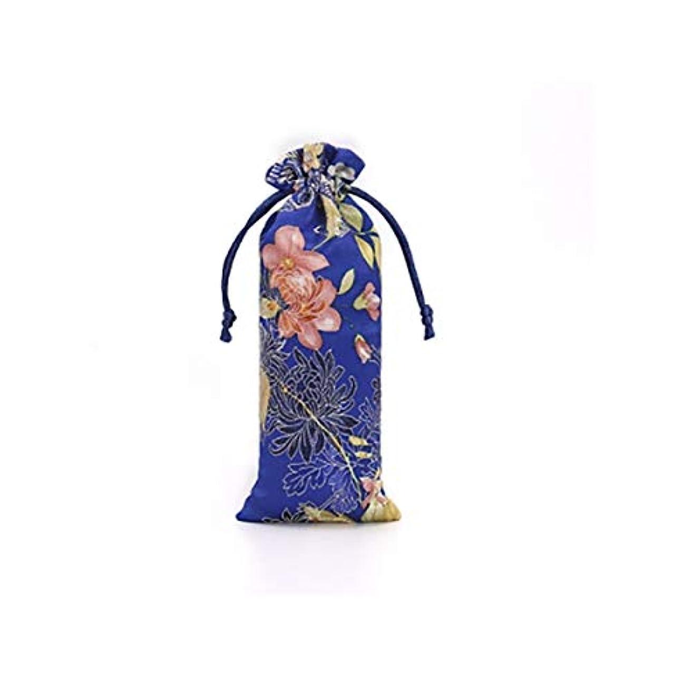 潮ホーム消すWMWLUO ギフトバッグ、巾着付き巾着ギフトバッグ (Color : Blue, Size : 7*18cm)