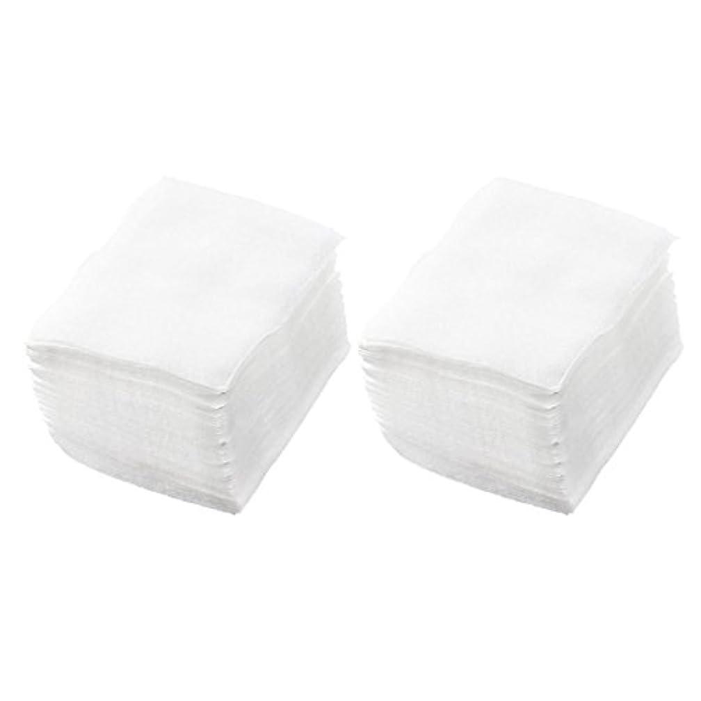 SODIAL(R) 320個 レディ ホワイト ネイルポリッシュリムーバ 長方形フェイスクリーニング コットンパッド