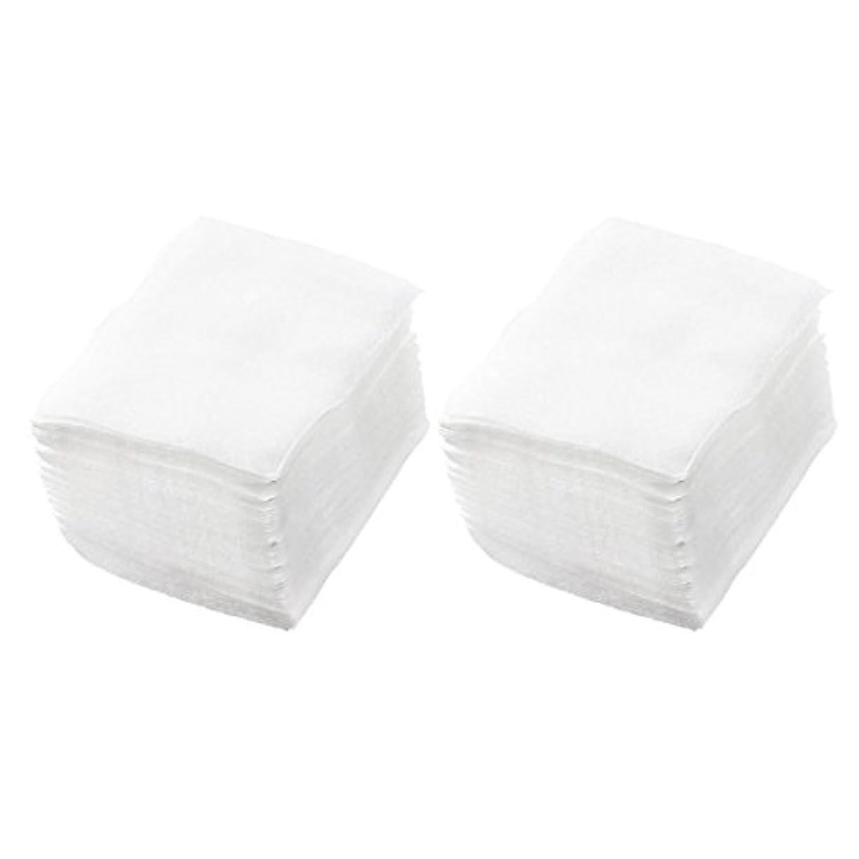減るすり減る切断するSODIAL(R) 320個 レディ ホワイト ネイルポリッシュリムーバ 長方形フェイスクリーニング コットンパッド