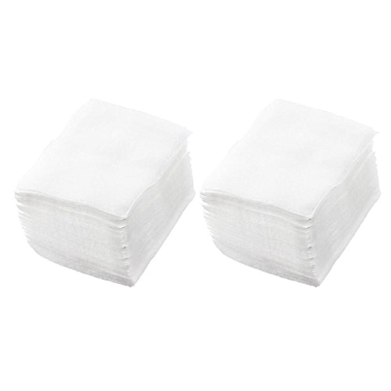 おしゃれな詳細なオッズSODIAL(R) 320個 レディ ホワイト ネイルポリッシュリムーバ 長方形フェイスクリーニング コットンパッド