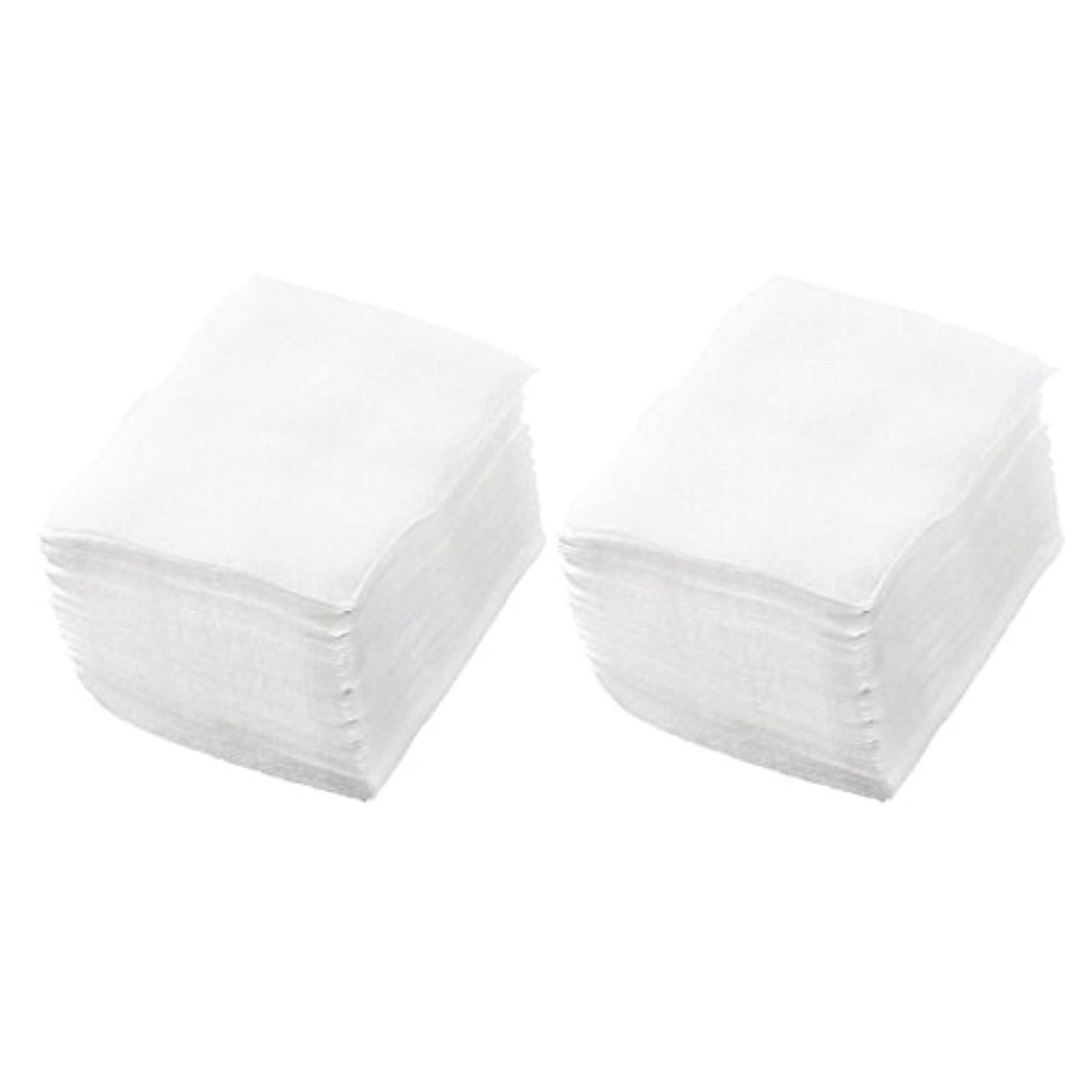 分析産地バスルームSODIAL(R) 320個 レディ ホワイト ネイルポリッシュリムーバ 長方形フェイスクリーニング コットンパッド
