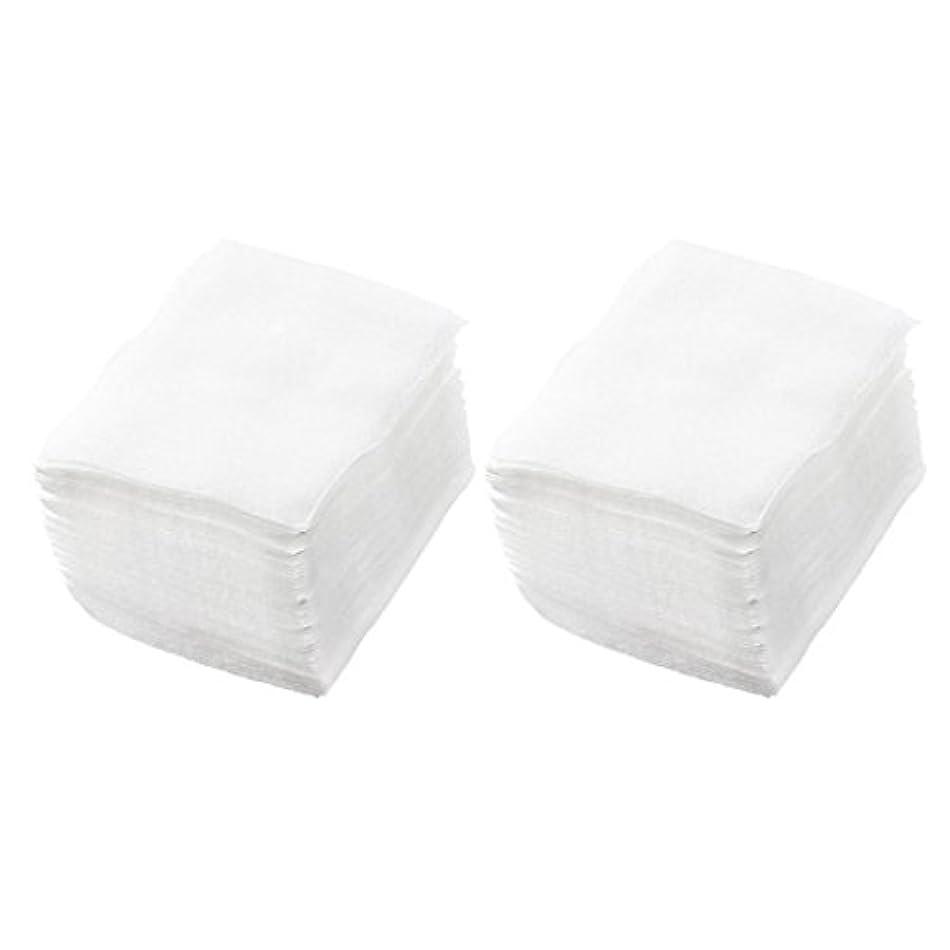 ファンネルウェブスパイダーハウス敬SODIAL(R) 320個 レディ ホワイト ネイルポリッシュリムーバ 長方形フェイスクリーニング コットンパッド