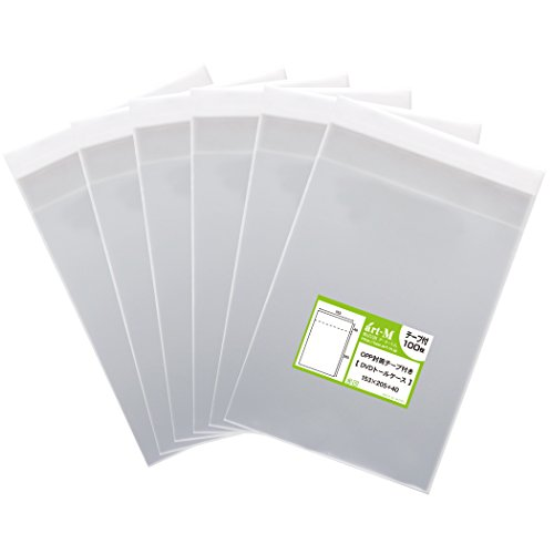 [해외]국산 테이프 부착 DVD 톨 케이스 용 투명 OPP 봉투 (투명 봉투) 600 매 30 미크론 두께 (표준) 153x205 + 40mm/Transparent OPP bag for DVD tall case with domestic tape (transparent envelope) 600 sheets 30 micron thickness (standard) 153 x...
